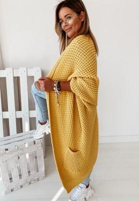 Sweter Kardigan Moi Yellow