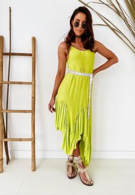 Sukienka Velsatino Asymetric Lime