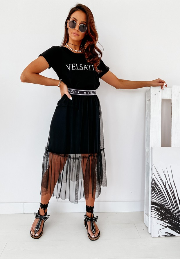 Sukienka Velsatino Tiul Black