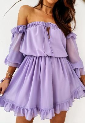 Sukienka Hiszpanka Gwalia Lilac