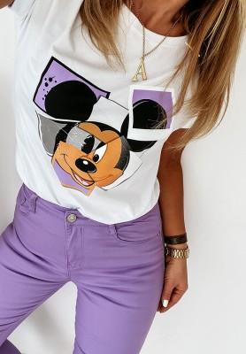 T-shirt Mouse Photo White