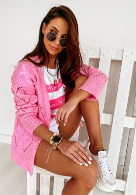 Sweter Kardigan Bassa Pink