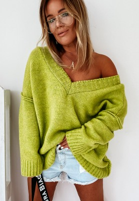 Sweter Oversize Sintra Lime