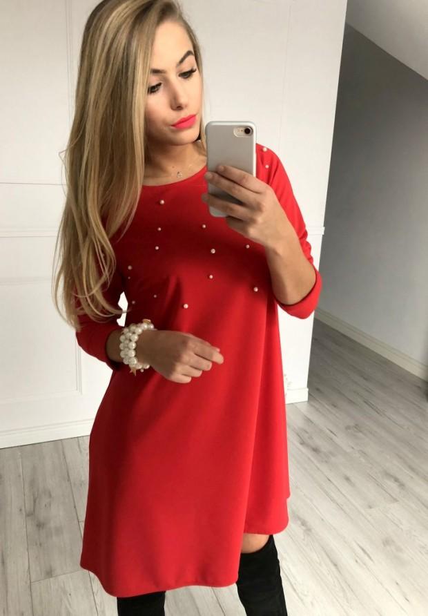 Sukienka Champagne Czerwona