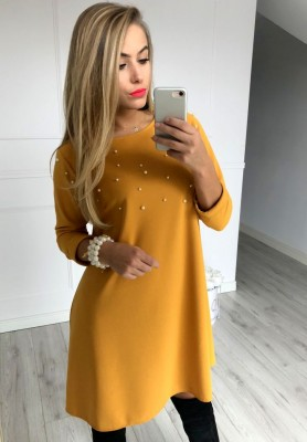 Sukienka Champagne Musztarda