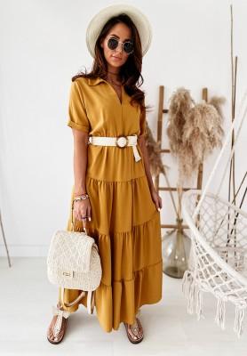Sukienka Montemare Mustard