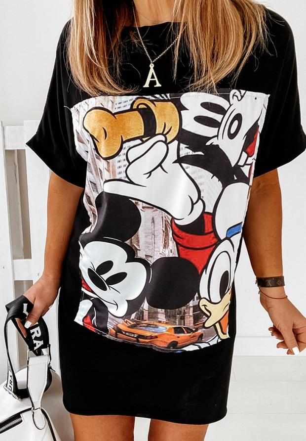 Sukienka Tunika Mouse City Black