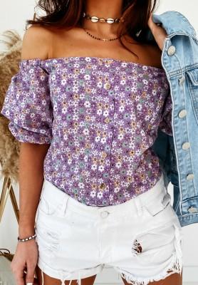 Bluzka Hiszpanka Fleur Lilac