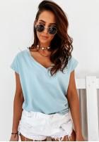 T-shirt V-neck Blue
