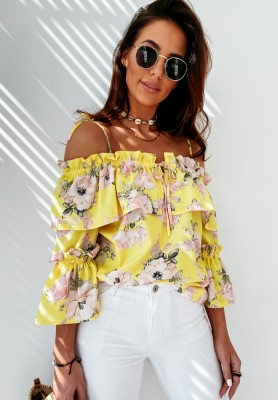Bluzka Hiszpanka Miramar Yellow