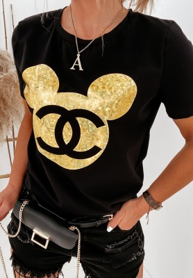 T-shirt Cocomore Mouse Black