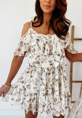 Sukienka Florasol Ecru