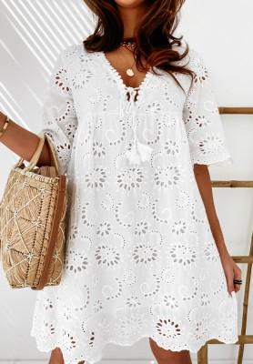 Sukienka Boho Carissa White