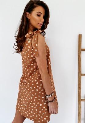 Sukienka Estrella Lou Camel