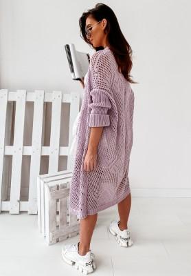 Sweter Kardigan Dellarosa Lilac