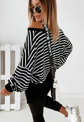 Bluzka Cocomore Lella Paski Black&White
