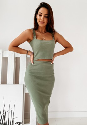 Spódnica Sukienka Constance Khaki