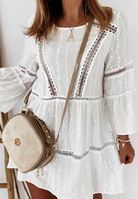 Sukienka Tunika Boho Marilla Ecru