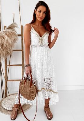 Sukienka Boho Benda White