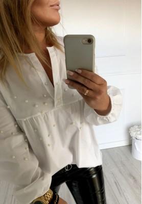 Bluzka Koszula Pearls Biała