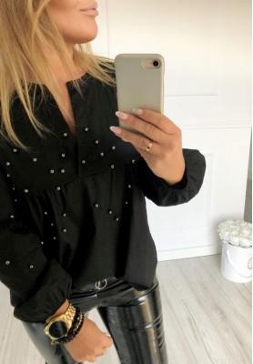 Bluzka Koszula Pearls Czarna