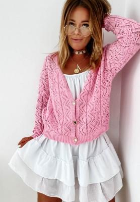 Sweter Kardigan Valbella Pink