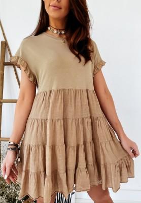Sukienka Adrina Camel