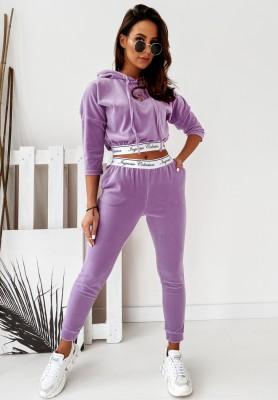 Komplet Welurowy Ingrosso Lilac