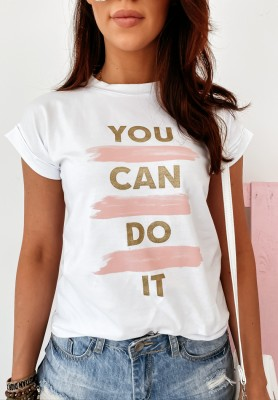 T-shirt You Can Do It White