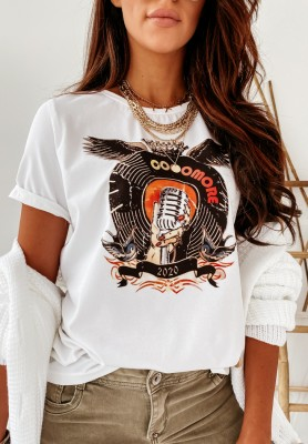T-shirt Cocomore Rocky White