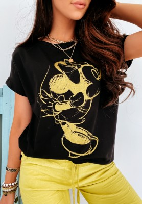T-shirt Mouse Kiss Black