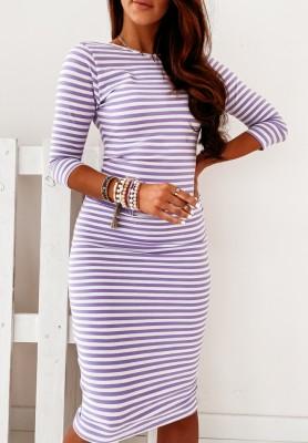 Sukienka Strips Lilac
