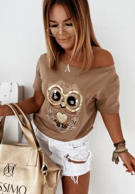 Bluzka Owl Camel
