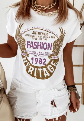T-shirt Heritage White