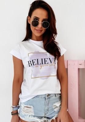 T-shirt Believe White