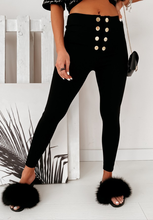 Spodnie Slim Monette Black