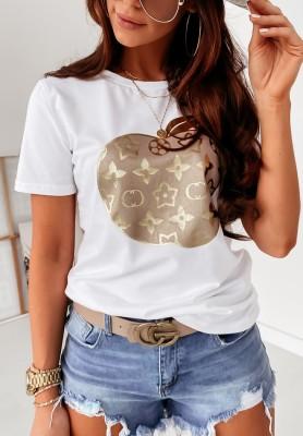 T-shirt Cocomore Apple Lou White