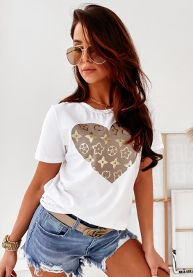 T-shirt Cocomore Heart Lou White