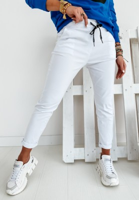 Spodnie Harwinton White