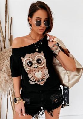 Bluzka Owl Black