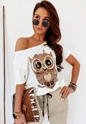 Bluzka Owl Ecru