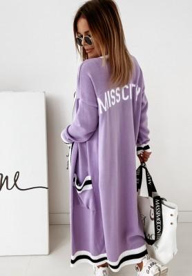 Sweter Kardigan Miss City Violet