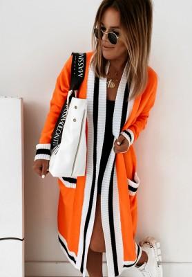 Sweter Kardigan Miss City Orange