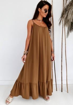 Sukienka Maxi Caraway Camel