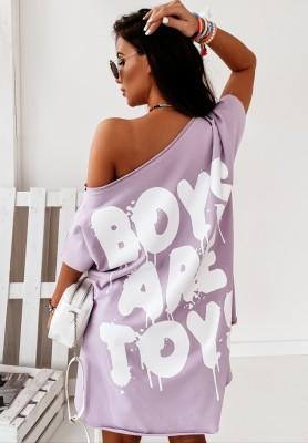 Bluzka Tunika Boys Are Toys Lilac
