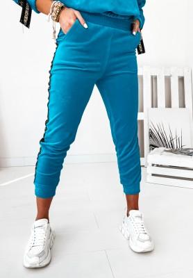 Spodnie Cocomore Velur Aurea Turquoise
