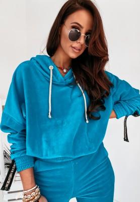 Bluza Cocomore Velur Aurea Turquoise