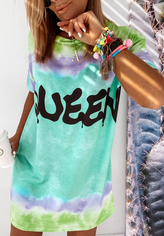 Sukienka Tunika Queen Ombre Green