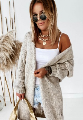Sweter Kardigan Bueno Beige