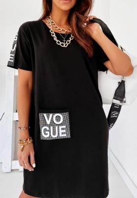 Sukienka Tunika Vogue Glam Black